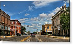 Old Town Taylor Intersection Acrylic Print by Linda Phelps