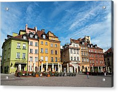 Old Town Warsaw Acrylic Print by Chevy Fleet