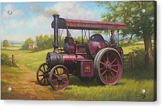 Old Traction Engine. Acrylic Print by Mike Jeffries