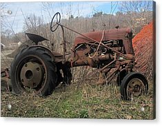 Old Tractor-clarks Farm Acrylic Print by Paul Meinerth