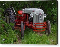 Old Tractor Acrylic Print by Doug Long