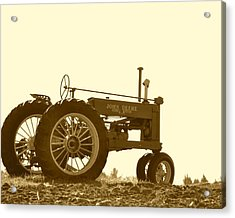 Old Tractor IIi In Sepia Acrylic Print