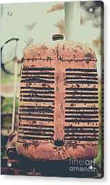 Acrylic Print featuring the photograph Old Tractor Vintage Look by Edward Fielding