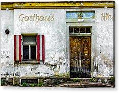 Old Traditional Austrian Tavern Acrylic Print