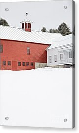 Old Traditional New England Farm In Winter Acrylic Print
