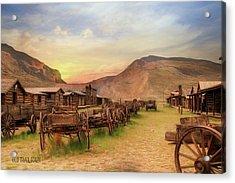 Old Trail Town Acrylic Print by Lori Deiter