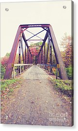Acrylic Print featuring the photograph Old Train Bridge Newport New Hampshire by Edward Fielding