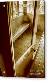 Old Train Cabin Acrylic Print by Jorgo Photography - Wall Art Gallery