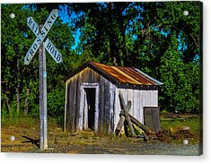 Old Train Shed Acrylic Print by Garry Gay