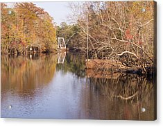 Old Trestle On The Waccamaw River Acrylic Print