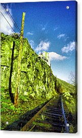 Acrylic Print featuring the photograph Old Trolly Tracks by Jeff Swan