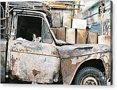Acrylic Print featuring the photograph Old Truck by Dean Harte