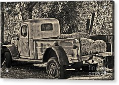 Acrylic Print featuring the photograph Old Truck by Frank Stallone