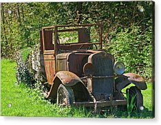 Old Truck II C1002 Acrylic Print by Mary Gaines