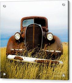Old Truck In Field Acrylic Print by Emilio Lovisa