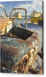 Old Truck In The Beach Acrylic Print
