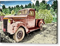 Old Truck Acrylic Print by James Steele