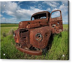 Old Truck Acrylic Print by Leland D Howard