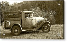Old Truck On The Mountain Acrylic Print by Pete Hellmann