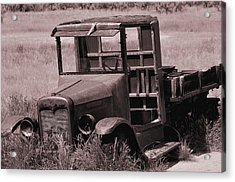 Acrylic Print featuring the photograph Old Truck In Sepia by Kae Cheatham