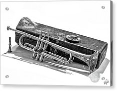 Acrylic Print featuring the photograph Old Trumpet by Walt Foegelle