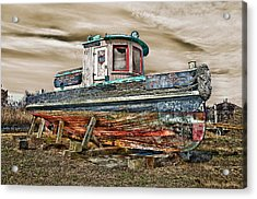 Old Tug Acrylic Print by Steve Zimic