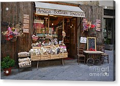Acrylic Print featuring the photograph Old Tuscan Deli by Frank Stallone
