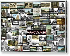 Old Vancouver Collage Acrylic Print by Janos Kovac
