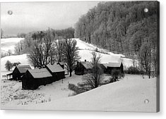 Old Vermont Farm Acrylic Print by John Scates