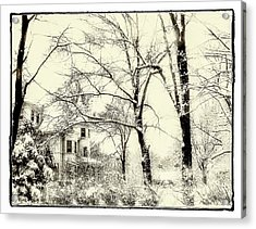 Acrylic Print featuring the photograph Old Victorian In Winter by Julie Palencia