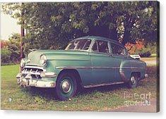 Old Vintage American Car Acrylic Print by Edward Fielding
