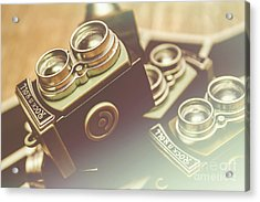 Old Vintage Faded Print Of Camera Equipment Acrylic Print