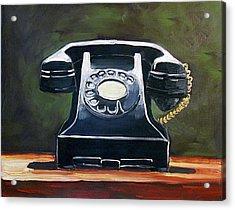 Old Vintage Phone Acrylic Print