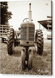 Old Vintage Tractor Cornish New Hampshire Acrylic Print by Edward Fielding