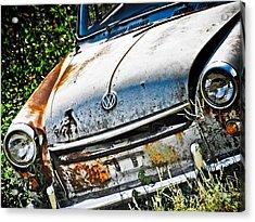Old Vw Acrylic Print by Kathy Jennings