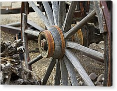 Acrylic Print featuring the photograph Old Waagon Wheel by Phyllis Denton