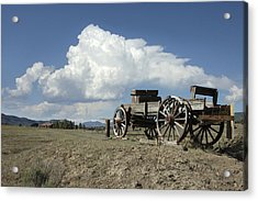 Old Wagon Out West Acrylic Print by Jerry McElroy