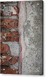 Old Wall Detail Acrylic Print by Elena Elisseeva