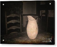 Old Water Pitcher Acrylic Print by Cindy Nearing