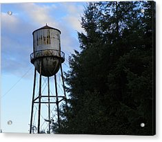Old Water Tower Acrylic Print by Laurie Kidd