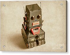 Old Weathered Ai Bot Acrylic Print