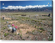 Old West Rocky Mountain Cemetery View Acrylic Print by James BO Insogna