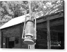 Old Western Lantern Acrylic Print by Ray Shrewsberry
