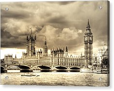 Old Westminster In London Acrylic Print by Vicki Jauron