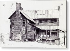 Old Willard Home Acrylic Print by Penny Everhart