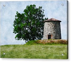 Acrylic Print featuring the photograph Old Windmill by Jean Bernard Roussilhe