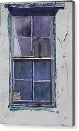 Old Window And New Home Acrylic Print by Christine Lathrop