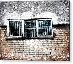 Old Window Bars Acrylic Print by Tom Gowanlock