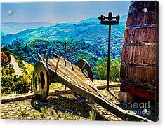 Old Wine Cart Acrylic Print by Rick Bragan