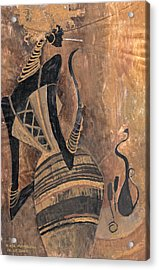 Acrylic Print featuring the painting Old Wine by Maya Manolova